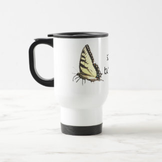 Social Butterfly Stainless Steel Travel Mug