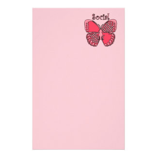 Social Butterfly Personalized Stationery
