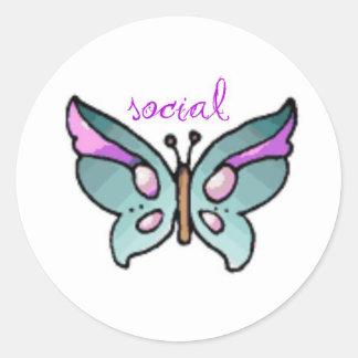 social butterfly sticker