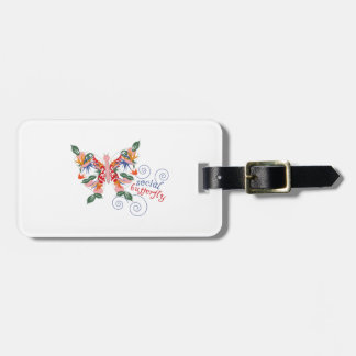 Social Butterfly Travel Bag Tag