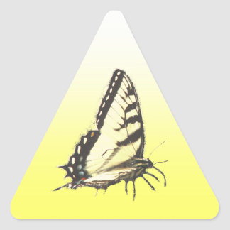 Social Butterfly Triangle Sticker