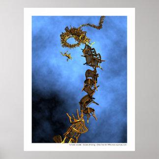 Social climbing - Echelle sociale Poster
