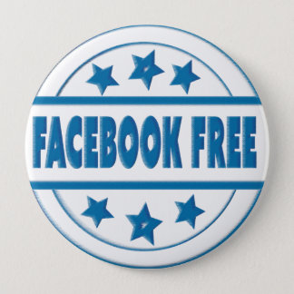 Social Facebook Free Your Custom Round Badge