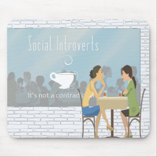Social Introverts Mousepad