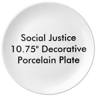 """Social Justice 10.75"""" Decorative Porcelain Plate"""