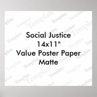 "Social Justice 14x11""  Value Poster Paper  Matte"