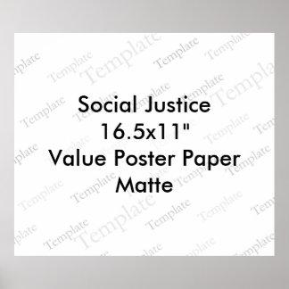 "Social Justice 16.5x11""  Value Poster Paper  Matte"
