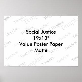 "Social Justice 19x13""  Value Poster Paper  Matte"