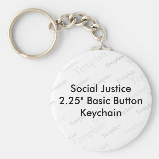 """Social Justice 2.25"""" Basic Button Keychain"""