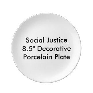 """Social Justice 8.5"""" Decorative Porcelain Plate"""
