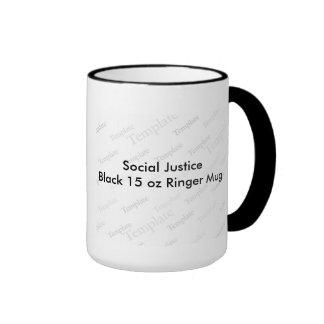 Social Justice Black 15oz Ringer Mug