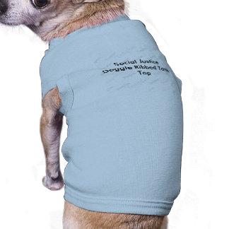Social Justice Doggie Ribbed Tank Top Pet Shirt