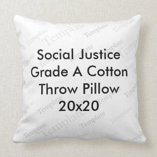 Social Justice Grade A Cotton Throw Pillow  20x20