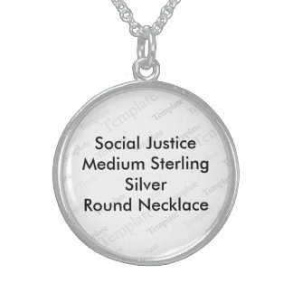 Social Justice M Sterling Silver Round Necklace
