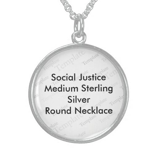 Social Justice (M) Sterling Silver Round Necklace