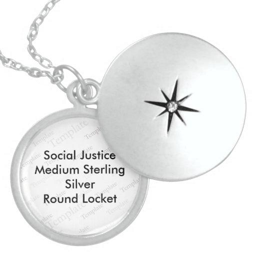 Social Justice Medium Sterling Silver Round Locket