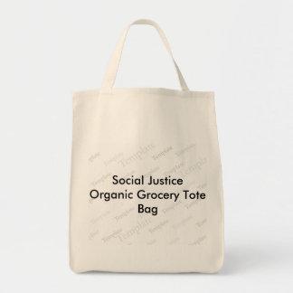 Social Justice Organic Grocery Tote Bag