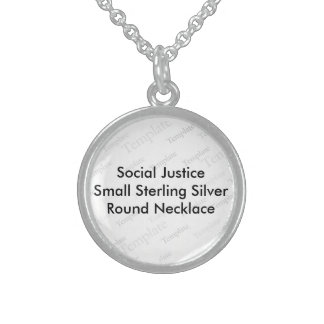 Social Justice Small SterlingSilver Round Necklace