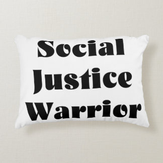 Social Justice Warrior Accent Pillow