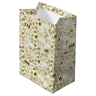 Social Media Addict Pattern Gift Bags