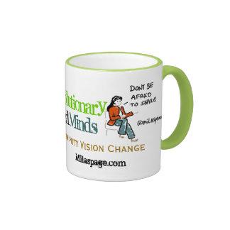 Social Media Coffee Revolutionary Minds - Green Coffee Mugs