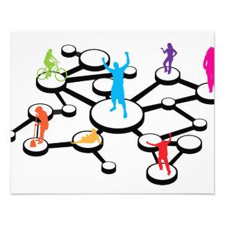 Social Media Connections Diagram Photograph