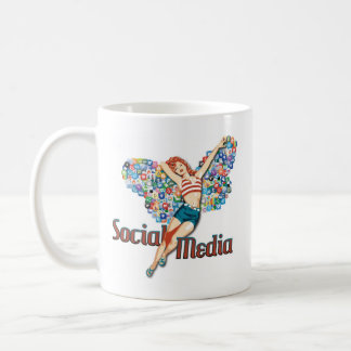Social Media fairy pin-up Coffee Mugs