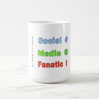 Social Media Fanatic Basic White Mug