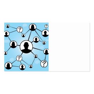 Social Media Friends Diagram Business Cards