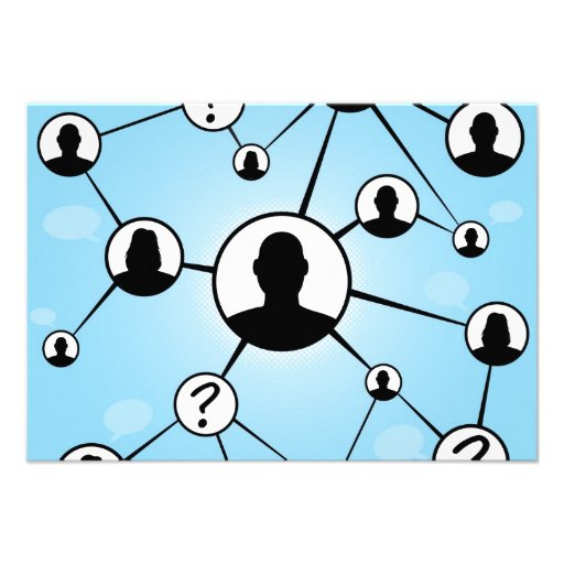Social Media Friends Diagram Invitations