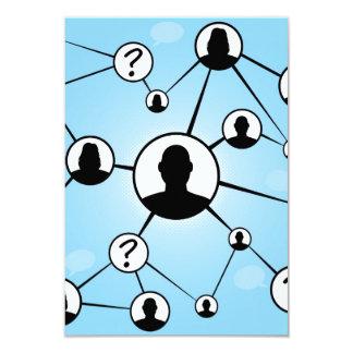 Social Media Friends Diagram 9 Cm X 13 Cm Invitation Card