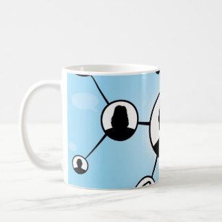 Social Media Friends Diagram Coffee Mugs