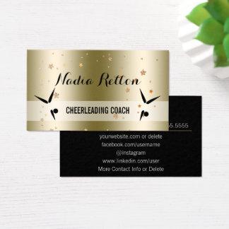 Social Media | Gold Stars Cheerleading Coach Business Card