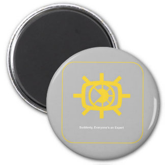 Social Media graphic 6 Cm Round Magnet