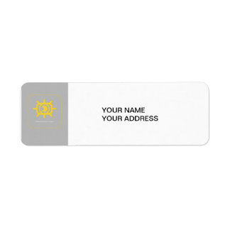 Social Media graphic Return Address Label