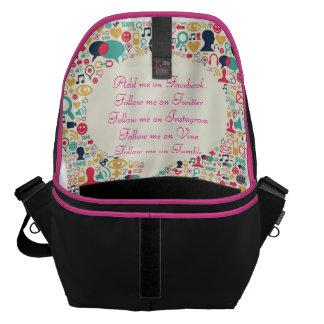 Social Media Messenger Bag