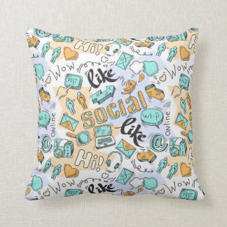 Social Media Pattern Cushion