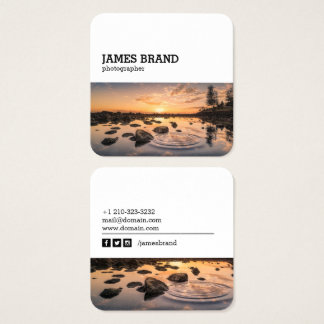 Social Media Photography Photographer Square Business Card