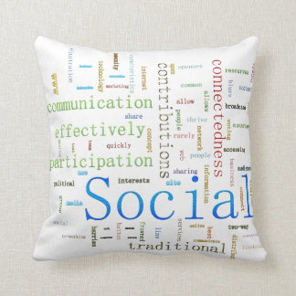 Social Media Related Text Design Cushion