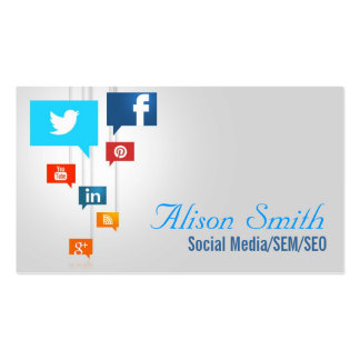 Social Media/SEM/SEO Pack Of Standard Business Cards