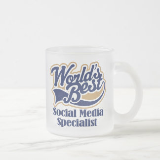 Social Media Specialist Gift Frosted Glass Mug