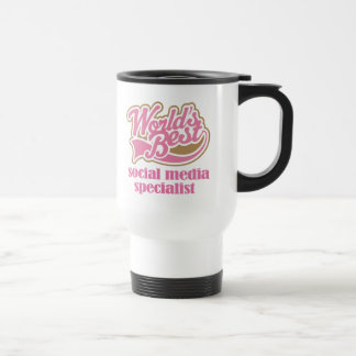 Social Media Specialist Pink Gift Coffee Mugs