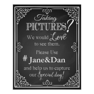 Social media wedding sign chalkboard print