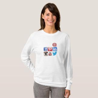 Social Media Women's Basic Long Sleeve T-Shirt