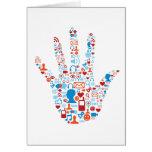 Social Network Hand Greeting Card