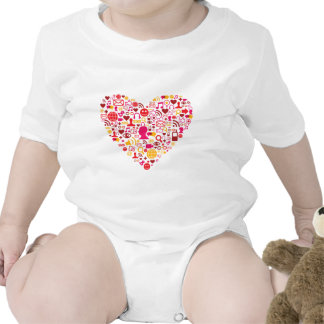 Social Network Heart Bodysuits