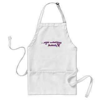 Social Networking Butterfly Adult Apron