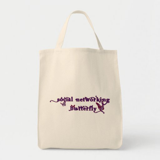Social Networking Butterfly Canvas Bag