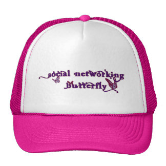 Social Networking Butterfly Mesh Hat