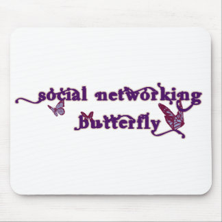 Social Networking Butterfly Mousepads